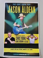 Jason Aldean 2017 11x17 They Don't Know tour concert poster Chris young ticket