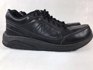 New Balance 928 Black Leather MW928BK Lace Up Comfort Walking Shoes Mens Sz 13D