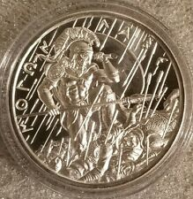 Molon Labe 1 oz .999 Fine Silver Come and Take It Spartan Warrior Arrow Rain NEW