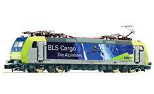 * Fleischmann Scala N 738512 Loco elettrica Re 485 Cargo Alpinisti BLS New OVP