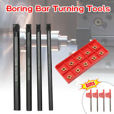 6/7/8/10mm SCLCR06 Turning Tools Lathe Boring Bar w/CCMT060204 Insert + Wrench