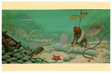 One 1 Vintage Shipwreck Postcard Art McKee's Museum of Sunken Treasure ca. 1950s