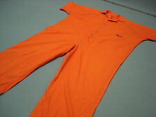 Inmate Jail Prisoner Costume Convict Orange Prison Jumpsuit  4XL