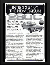 "1978 NISSAN DATSUN 280C AD A3 FRAMED PHOTOGRAPHIC PRINT 15.7""x11.8"""