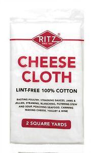 Ritz Ultra Fine Cotton Cheese Cloth 2 Square Yards