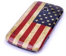 Schutzhülle f Samsung Galaxy Ace plus + S7500 Tasche Case USA Amerika Flagge