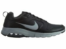 Nike Air Max Motion Leather Mens 858652-001 Black Grey Running Shoes Size 10