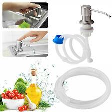 Sink Soap Dispenser Kitchen Stainless Steel Hand Liquid Pump Bottle Tube Kit DIY