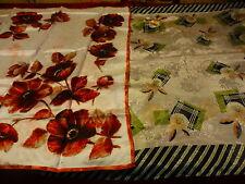 2foulards avec  petits défauts un en soie brochée pour recycler==== création ??
