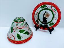 Yankee Candle Holly Christmas Crack Glass Shade Jar Topper
