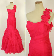 NWT Jovani Size 4 Prom Formal Cruise Long $640 Fuchsia Mermaid 100% Silk Gown