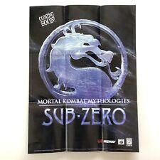 Mortal Kombat Nintendo 64 N64 Promotional Midway Promo POSTER Insert Only