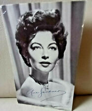 More details for actress: ava gardner - signed postcard - celebrity autograph series no.129