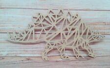 Stegosaurus Geometric MDF  Dinosaur 300mm Craft Blank, plaque