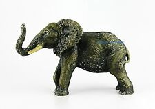 "JAY STRONGWATER LARGE 7"" ELEPHANT MOTHER NATURAL MATTE SWAROVSKI NEW BOX USA"