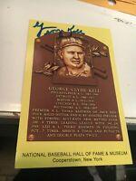 George Kell Detroit Tigers Signed Hall of Fame Postcard COA