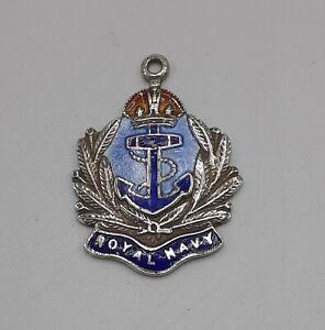 Silver and Enamel Royal Navy Charm Fob