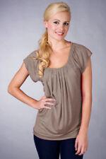 SALE !! TAUPE Nursing Top M L XL 10 12 14 16 18 Maternity Breastfeeding BNWT