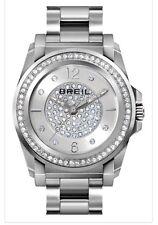 BREIL WOMEN'S Manta' Pavé Crystal Bracelet Watch 34mm NIB