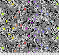Free Spirit Tula Pink Linework Collection Lemur Me Alone -INK Cotton Fabric