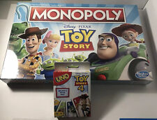 Disney & Pixar's Toy Story Monopoly & Uno - 2 Game Lot New For Christmas