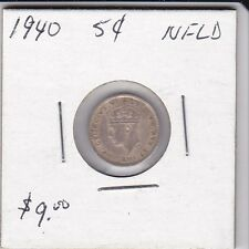 Canada 1940 NFLD 5 cent silver coin