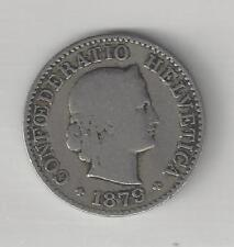 SWITZERLAND,  1879-B,  5 RAPPEN,  COPPER-NICKEL,  VERY GOOD,  KM#26