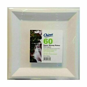 NEW Chinet 60  Strong Square 24cm Disposable Plates For party ,Functions Etc
