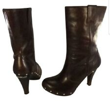 Michael Kors woman ankle boots brown leather with studs 8 M