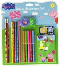Peppa Pig Deluxe Stationery Set - Includes Colour In Poster