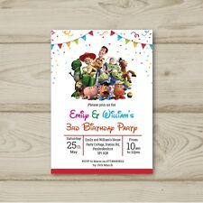10 Personalised Toy Story Children Birthday party invitations