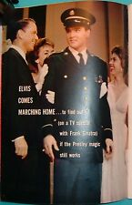 1960 Tv Guide~Frank Sinatra~Elvis Presley Back From The Army~Whisker Pete Wthi