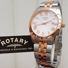 ROTARY Mens SWISS MADE Watch Les Originales Two tone RRP £280 Boxed VGC (r47