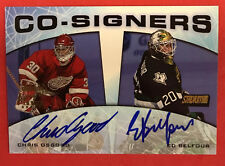 2000 Topps Stadium Club Co-Signers Chris Osgood Ed Belfour Auto Autograph (BB 6)