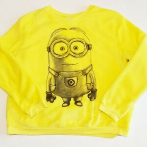 Despicable Me Minion Fleece Yellow Sweat Shirt Top Juniors XXL (Size 19)