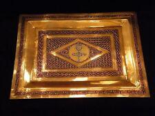 Plateau Cuivre émaillé Croix Berbère Chekroune Mouchy Ghardaia Médaille Or 1937