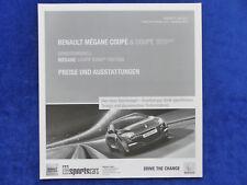 Renault Megane Coupe GT RS Sport Bose Edition - Preisliste - Prospekt 06.2013