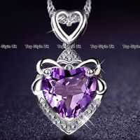 BLACK FRIDAY DEALS Crystal Heart Necklace Xmas Presents for Women Wife Mum GF A7