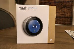 Nest T3007ES 3rd Generation Programmable Thermostat Stainless Steel