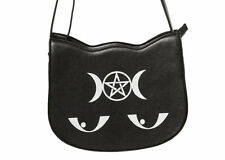Banned Apparel Gothic Punk Pentagram Occult Illuminati Kitty Messenger Handbag