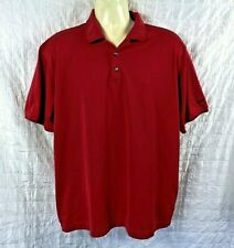 Nike Golf Fit Dry Men's Size XL Polo Golf Shirt Casual Blood Red + Black Trim
