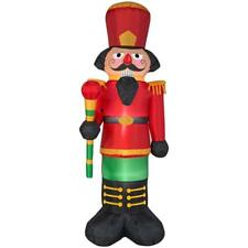 Christmas Home Accents Holiday 6.5 ft Red Nutcracker Airblown Inflatable