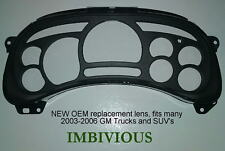 GM 2003-2006 replacement instrument cluster lens for many GM trucks and SUV's