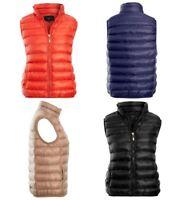 Womens Padded Gilet Bodywarmer Jacket Ladies Lined Waistcoat Size 8 10 12 14