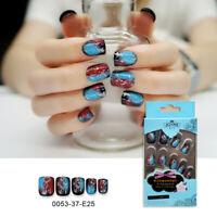 24pcs Fake False Nail Tips Extension Manicure Art Press On Nails NF G3