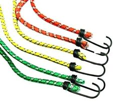 BUNGEE STRAPS 6X CORDS SET WITH HOOKS ELASTICATED ROPE CORD CAR BIKE LUGGAGE