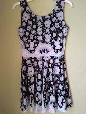 Rainbow Sweets Black/Grey Skater Dress kawaii jfashion decora harajuku Size M