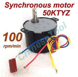 Synchronous Motor 50KTYZ AC 110V 120V 50/60Hz 100r/m CW/CCW 6W 0.7kgf.cm