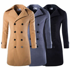 Unbranded Woolen Double Breasted Coats & Jackets for Men