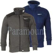 Crosshatch Patternless Zip Cardigans for Men